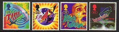 GB 1995 Science Fiction unmounted mint set stamps