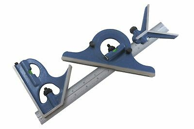 "Blem Cosmetic Second PEC 12"" 16R 4 pc combination machinist square protractor"