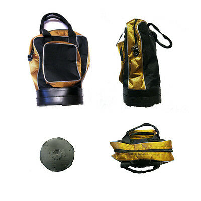"""DELUXE PRACTICE BALL SHAG BAG in Black/Metallic Copper """"NEW"""" by Touch Golf"""
