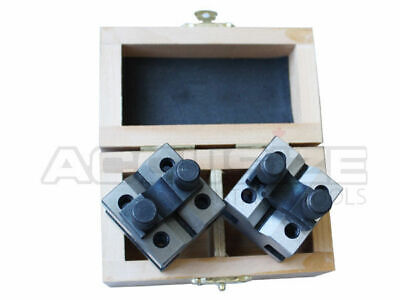 1-3/8'' x 1-3/8'' Ultra-Precision V-Block & Clamp Set in Fitted Box, #EG10-9011
