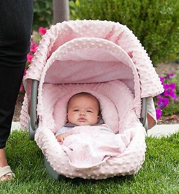 """The Whole Caboodle Carseat Canopy Baby Car Seat Cover 5 Pc Set New """" Angelina """""""