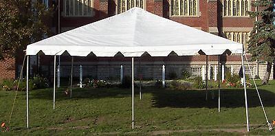 20 x 20 White Replacement TOP ONLY West Coast Frame Tent Tentandtable Awning