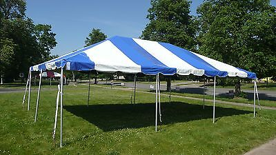 20 x 30 Blue Replacement TOP ONLY West Coast Frame Tent Tentandtable Awning