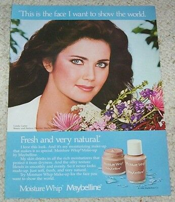 1985 ad page - sexy LYNDA CARTER Maybelline Cosmetics make-up vintage PRINT AD