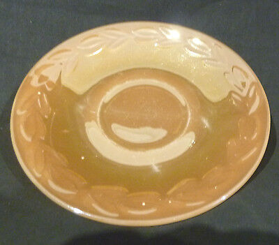 FIRE KING PEACH LUSTRE SAUCER  made in  the USA