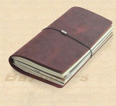 Blank Diary Journal Notebook Handmade Genuine Leather Cover NEW
