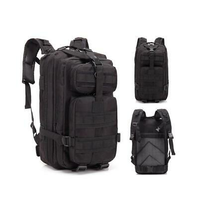 30L Rucksack Carry Tactical Assault Bag Day Pack Backpack Molle Loops Black New