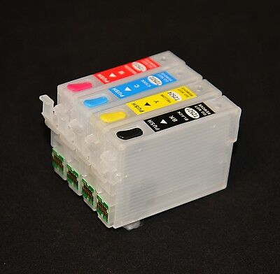 EMPTY refillable Ink Cartridge for Epson WF-3620 WF-3640 WF-7610 WF-7620 252 CIS