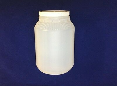 NEW Wide Mouth 1 Gallon Jar With Lid Food Safe Translucent White HDPE Plastic