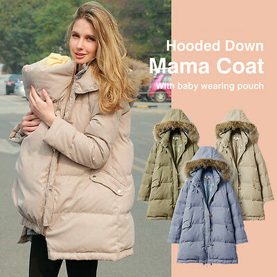 Piumino Mamma-Bimbo con Marsupio e sacco passeggino Down Feather Mum Coat SJ4053