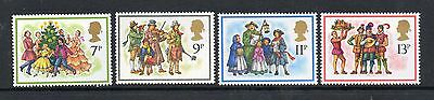 GB 1978 Christmas unmounted mint set stamps