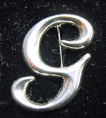 Sterling Silver (925) Large Letter G Brooch by Creola
