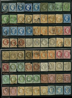 FRANCE 1848-1920 EARLY ACCUMULATION + FAULTS 174 stamps