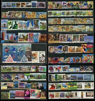 NEW ZEALAND 1994-2002 COLLECTION SETS + SINGLES 163 stamps FU + SELF ADHESIVES