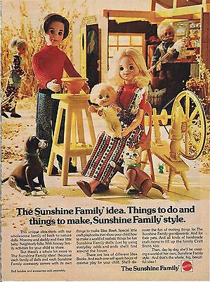 Vintage Mattel The Sunshine Family Toy Ad 1976