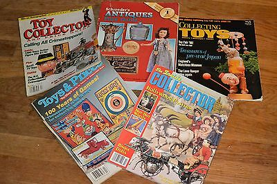 antiques and toy collecting book and magazine lot- 5 items