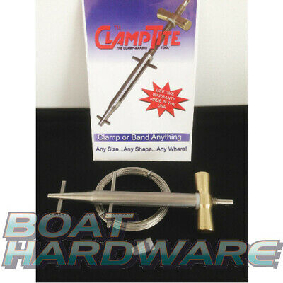 ClampTite SS Clamp Repair Tool DIY Fix for Hoses Marine Yacht *Watch Demo Video*