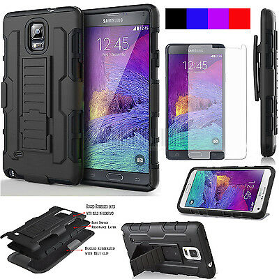 For Samsung Galaxy Note 3 4 5 Shockproof Rugged Armor Stand Case Cover&Holster