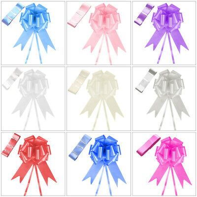 Wedding Car Decoration Kit - 7m of Poly Ribbon & 1 x Large Pull Bow -9 Colours