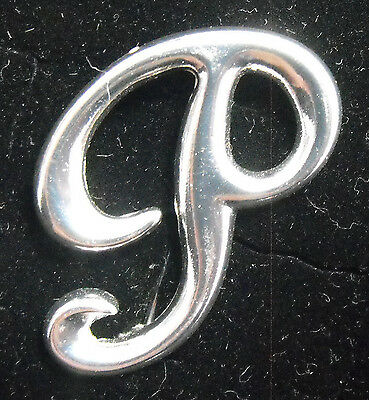Sterling Silver (925) Large Letter P Brooch by Creola