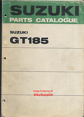 Suzuki GT185 K/L (1973-1974) Fully Illustrated Parts Catalogue GT 185,Ram-Air