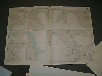 Vintage Admiralty Chart 712 HARBOURS & ANCHORAGES IN S.E. GREECE 1966 edition