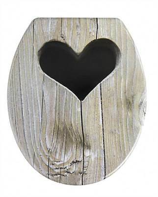 Wenko Plastic Toilet Seat Heart Design With Stainless Steel Fixings