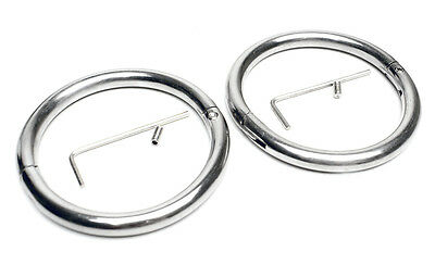 New KUB Restraint Oval Adult Handcuffs Stainless Steel - Allen Key - Size: S