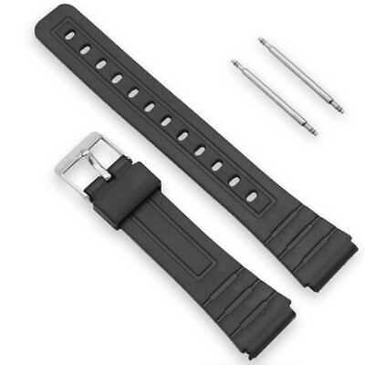 Plastic Sports Watch Band Replacement Strap for Casio F-91W F91W F91 18mm Black
