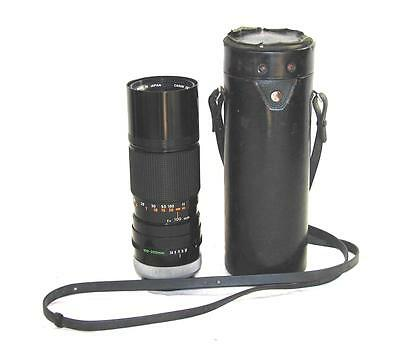 CANON ZOOM FD 100-200MM 1:5.6 S.C.LENS +LEATHER CASE MINTY!