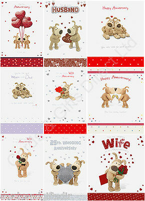 Boofle Wedding Anniversary Card Cards Husband Wife 25th Silver Mum & Dad Our