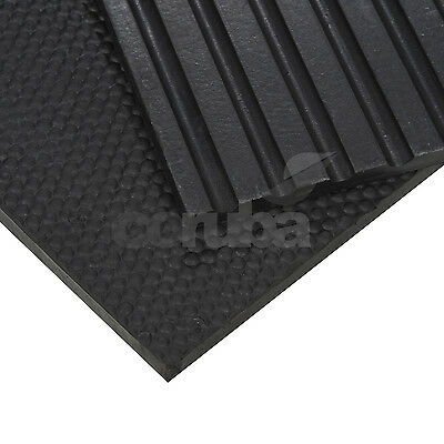 Cobbled Rubber Stable Mats 6ft x 4ft x 17mm Thk Horse Stable Floor / Gym Matting
