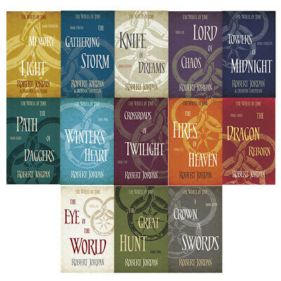 Robert Jordan 14 Books Collection Set The Wheel of Time Knife of Dreams New Pack