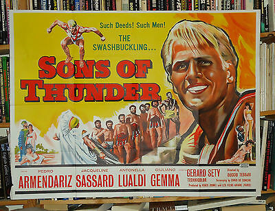 PEPLUM/SONS OF THUNDER/I TITANI/GIULIANO GEMMA/UK quad poster