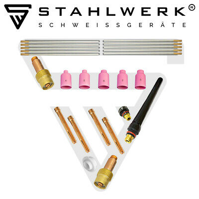 TIG WELDING TORCH SPARES CONSUMABLES ACCESSORIES KIT 36pcs. to suit WP 17,18,26