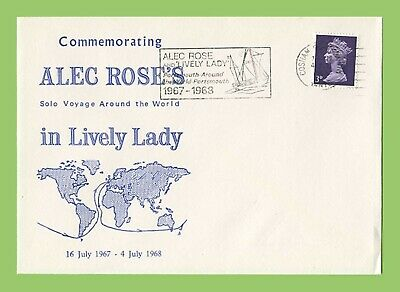 GB 1968 Alec Rose Solo Around World Voyage in Lively Lady Commemorative Cover