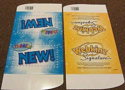 Complete your WEBKINZ & Webkinz Signature Collection w/ 2 Webkniz Triangle SIGNS