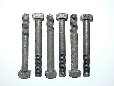 "1/2""-13 x 3 3/4"" Square Head Machine Bolt - Plain Steel Finish - Lot of 25 Pcs"
