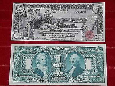 "Beautiful 1896 $1 ""education"" Silver Certificate Copy Read Description"