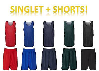 Basketball Singlet and Shorts | Podium, Training Kit, Mens, Kids, 7KBS + 7KBS2