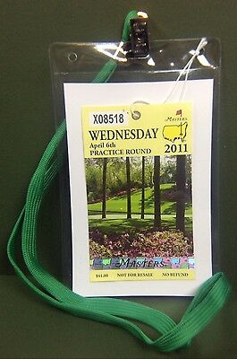 Masters Badge Ticket Holder Augusta National Golf Amen Corner Azalea PGA