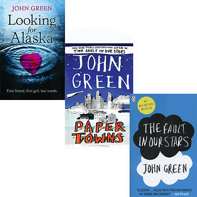 John Green Young Adults Fiction Collection Penguin 3 Books Paperback 2013