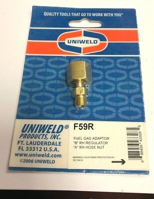 "OXYGEN Adapter ""B"" RH Regulator  to ""A"" RH Hose F59R"