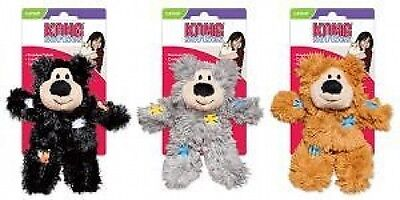 Kong Cat Softies Patchwork Bear Catnip Grab, Bat & Chase Toy Various Colours