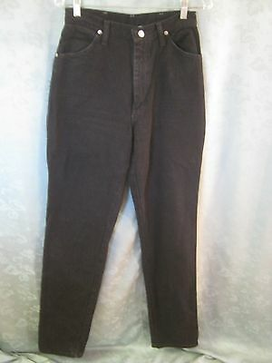 "Vintage Wrangler Size 9 10 High Waist Western Jeans 37"" inseam Made in USA Black"