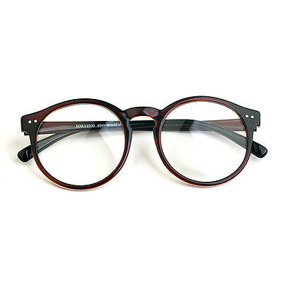 1920s Vintage oliver Retro eyeglasses 41R82 Brown Round kpop peoples frames