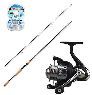 KP1444 Canna Spinning Carbonio 240 cm Mulinello Match Pro 30 Fd + Filo Bass