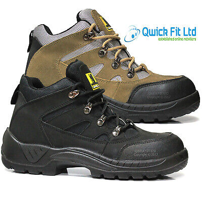 Mens Light Weight Safety Ankle Boots Hiking Trainers Steel Toe Cap Work Shoes