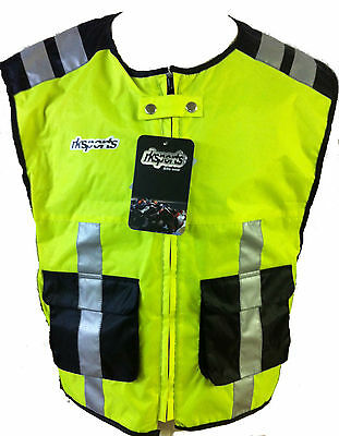 RK SPORTS HIGH VISIBILITY Motorcycle bike cycling vest Waistcoat Hi Viz
