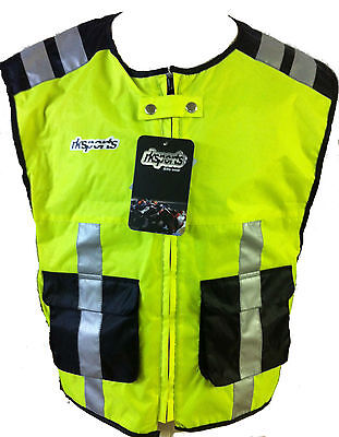 RK SPORTS HIGH VISIBILITY Motorcycle motorbike bike cycling vest Waistcoat HiViz